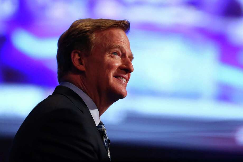 NEW YORK, NY - MAY 08:  NFL Commissioner Roger Goodell looks on prior to the start of the first round of the 2014 NFL Draft at Radio City Music Hall on May 8, 2014 in New York City.  (Photo by Elsa/Getty Images) ORG XMIT: 484586175 Photo: Elsa / 2014 Getty Images
