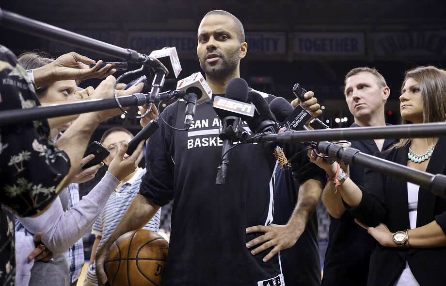 Point guard Tony Parker was quite willing to shoulder the blame for the Spurs' Game 3 loss to the Thunder during his media session Monday in Oklahoma City. Photo: Edward A. Ornelas / San Antonio Express-News / © 2014 San Antonio Express-News