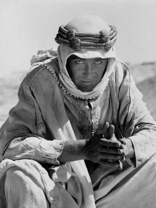 "1962:  Peter O'Toole poses for a portrait for the film 'Lawrence of Arabia.""  One of the best debuts in film history. Photo: Donaldson Collection, Getty Images / Michael Ochs Archives"