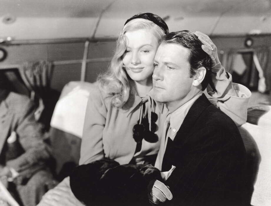 Joel McCrea (with Veronica Lake) in 'Sullivan's Travels' (1941).  The movie mixes farce and pathos, and McCrea beautifully walks that line. Photo: Mondadori, Mondadori Via Getty Images / Mondadori