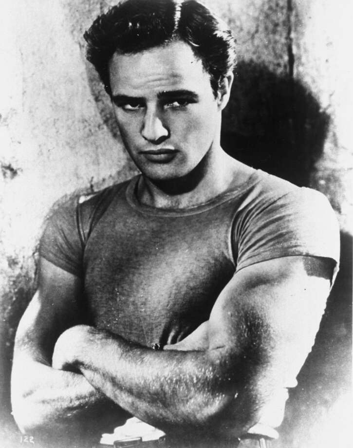 Marlon Brando in A STREETCAR NAMED DESIRE (1951).  And also, of course, in THE GODFATHER. Photo: Warner Bros. 1951, AP