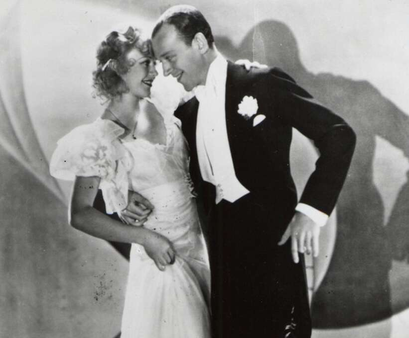 "Fred Astaire and Ginger Rogers in ""Flying down to Rio"" (1933), which started off their series of films.  All are memorable."