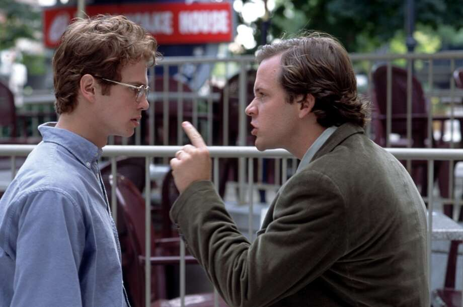 Peter Sarsgaard in SHATTERED GLASS (2003), a performance with many layers and stages of thinking and acting. Photo: JONATHAN WENK, AP