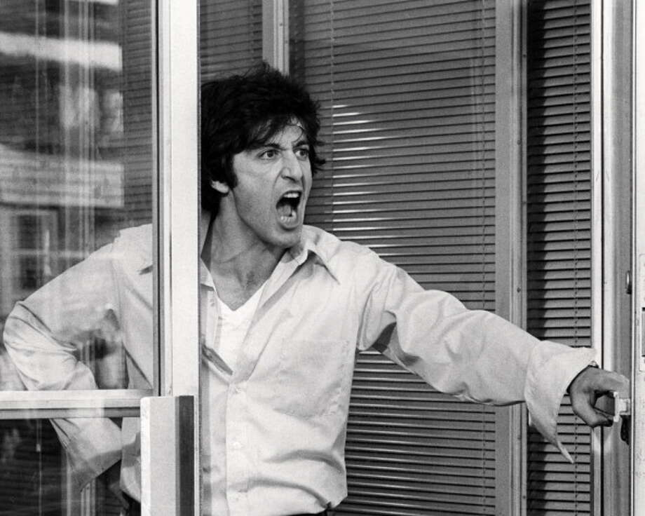"Al Pacino in DOG DAY AFTERNOON (1975). Remarkable.  But then so much of Pacino's work is unforgettable -- the ""Godfather"" movies (even III), ""Serpico,"" ""And Justice for All,"" ""Sea of Love,"" ""The Merchant of Venice"" . . . Photo: Silver Screen Collection, Getty Images / 2013 Silver Screen Collection"