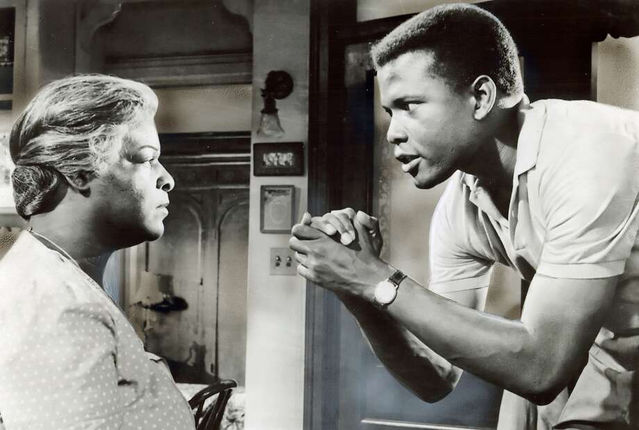 "Sidney Poitier in the movie ""A Raisin in the Sun"" (1961).  So much energy, so much repressed anger, so much animating that character. Photo: Columbia Pictures, SF Chronicle File 1961"