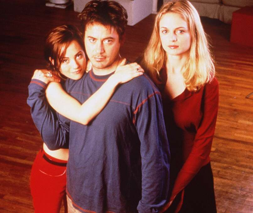 Robert Downey, Jr. in his tour de force, TWO GIRLS AND A GUY (1997).  Writer-director James Toback has said that Downey in this film was not only the best he ever was but the best he ever could be.  He's probably right. Photo: HO