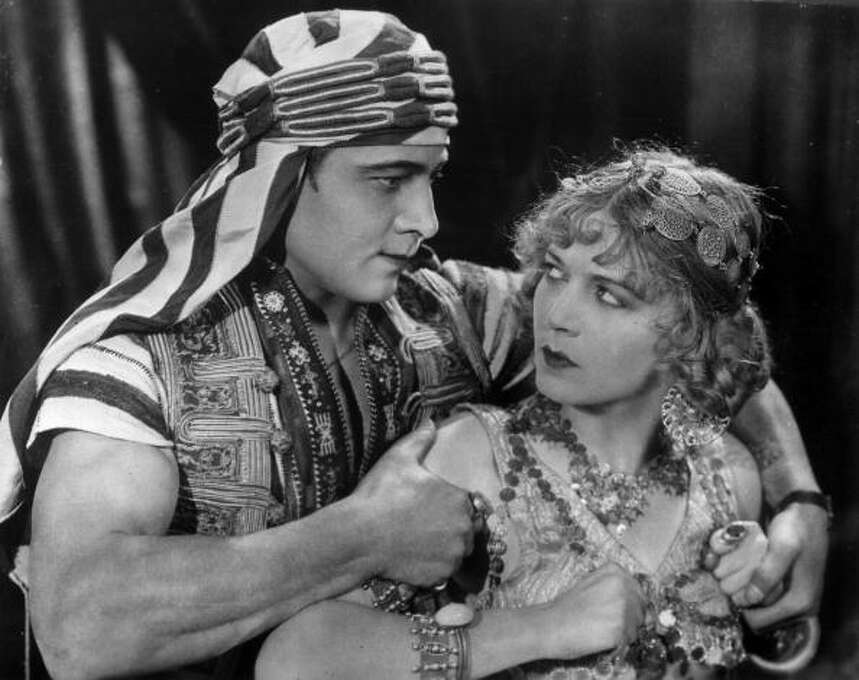 Rudolph Valentino (with Vilma Banky) in SON OF THE SHEIK (1926).  Behind the bravado, there was always something sensitive about Valentino. Photo: Hulton Archive, Getty Images / Archive Photos