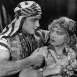 Rudolph Valentino (with Vilma Banky) in SON OF THE SHEIK (1926).  Behind the bravado, there was always something sensitive about Valentino.