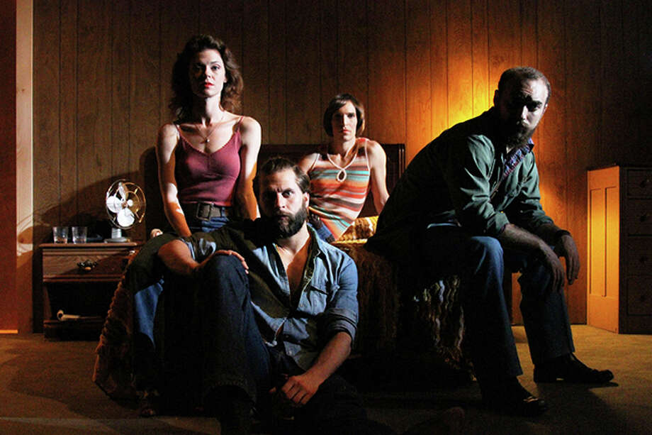 "An exploration of 1970s nostalgia and country rock music, ""The Essential Straight & Narrow,"" is being presented by The Mad Ones at the New Ohio Theatre in Greenwich Village, through June 14. The cast includes (left to right) Stephanie Wright Thompson, Joe Curnutte, Connecticut native Marc Bovino and Michael Dalto. Photo: Contributed Photo, Connecticut Post / Connecticut Post"