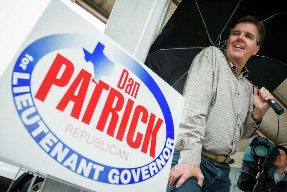 State Sen. Dan Patrick talks to supporters and members of the media in Cypress.  Photo: Smiley N. Pool, Houston Chronicle / © 2014  Houston Chronicle