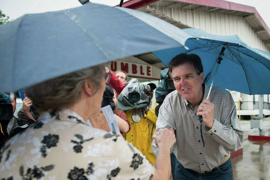State Sen. Dan Patrick greets voters in Cypress on Tuesday, May 27. Photo: Smiley N. Pool, Houston Chronicle / © 2014  Houston Chronicle