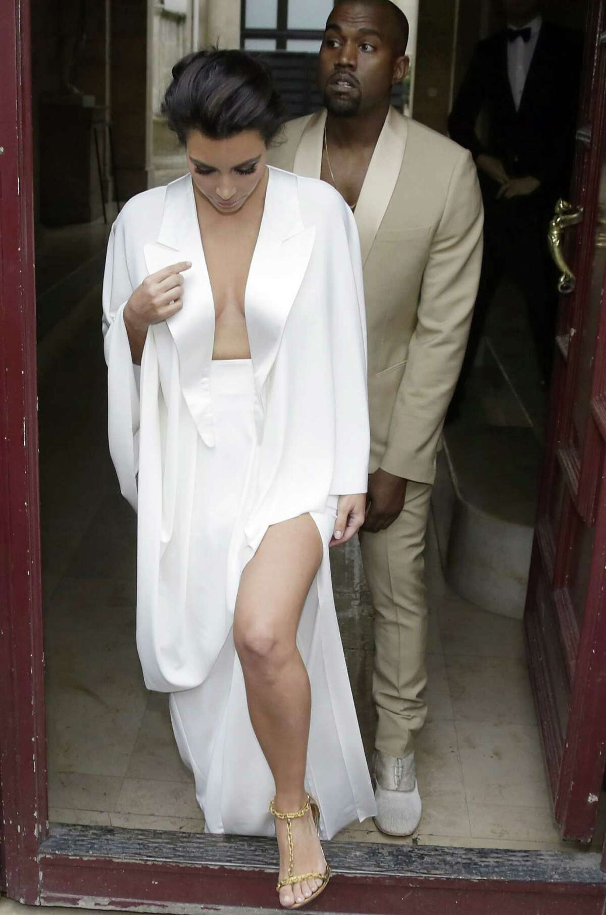 Kim Kardashian and Kanye West tied the knot over Memorial Day weekend in Florence, Italy. Being a musician himself, you know the music Kanye helped pick out for the matrimonial festivities was going to be good... even if it meant taking a hands-on approach. The first dance song? A mashup of 'At Last,' followed by 'These Arms of Mine,' and 'Tenderness.' But wait, there's more: the groom even busted out with a rap during the first dance.What's more, John Legend was on hand to sing his hit song 'All of Me' during the reception.Take a look at other celebrity power couples and the songs they got down to after saying