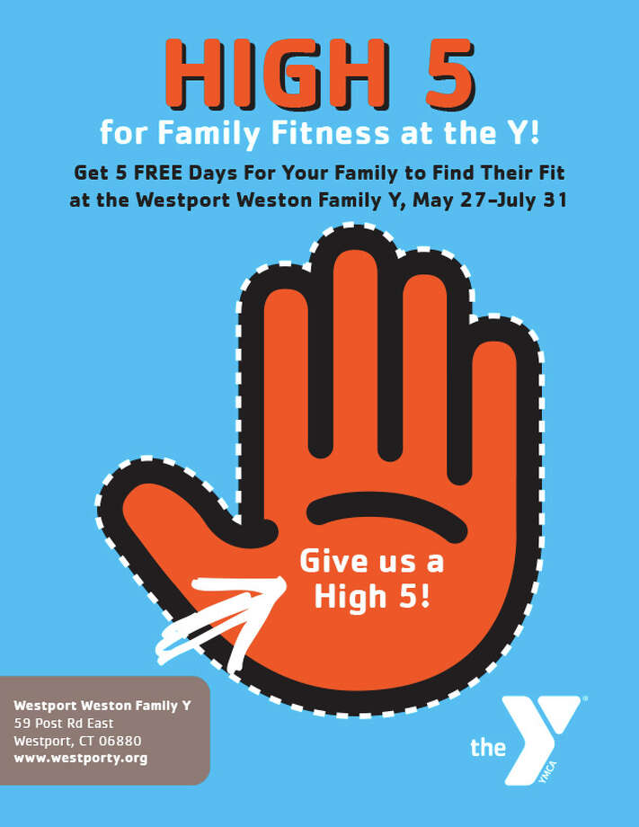 Until July 31, the Family Y is giving you and your kids 5 FREE visits to the Y's facility in downtown Westport. Find out what you'll get during your 5 free visits.