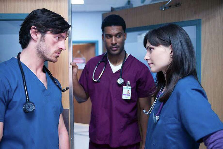 Jill Flint (far right) was among the stars of 'Night Shift'  who came to San Antonio. Photo: NBC