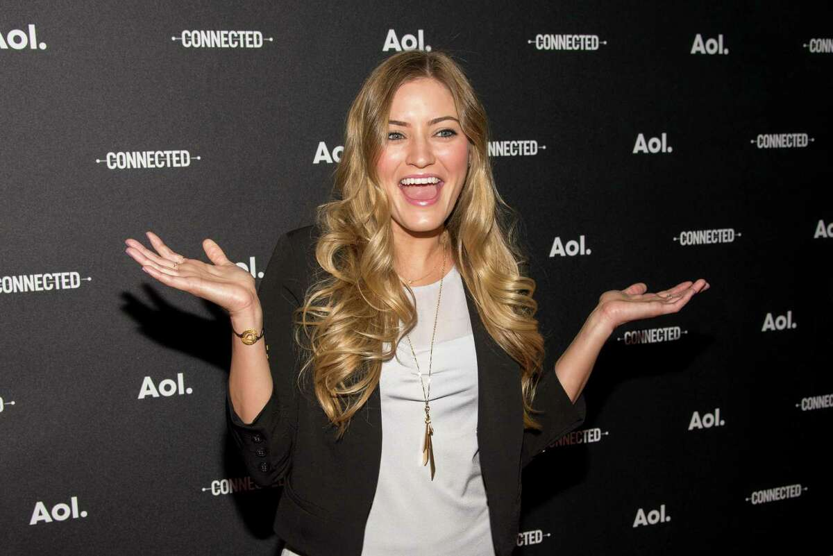 iJustine attends the 2014 AOL Digital Content NewFronts at the Duggal Greenhouse on April 29, 2014 in the Brooklyn borough of New York City.
