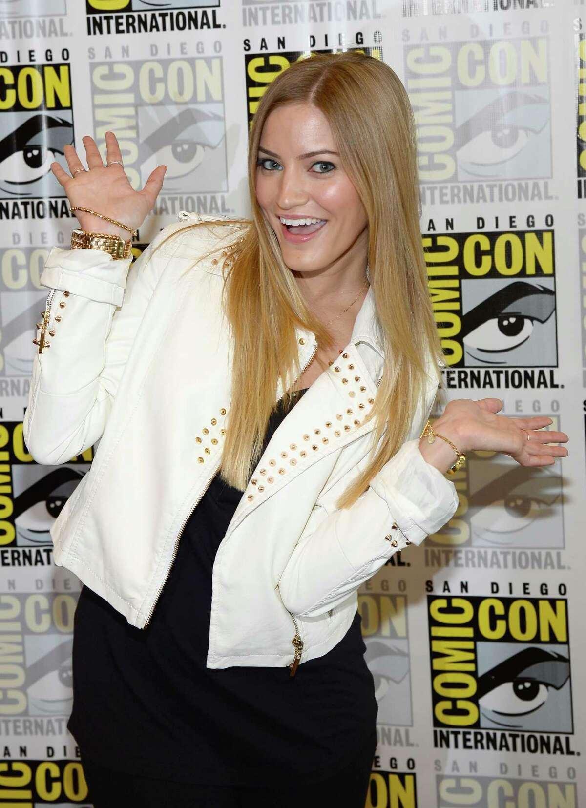 "Actress Justine ""iJustine"" Ezarik at Comic-Con International 2013 at the Hilton San Diego Bayfront Hotel on July 18, 2013 in San Diego, California."