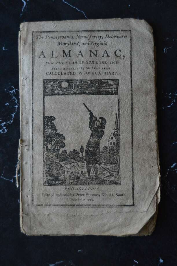 This 1808 almanac was in a package addressed to descendants of Rev. Foote in Michigan. Courtesy photo