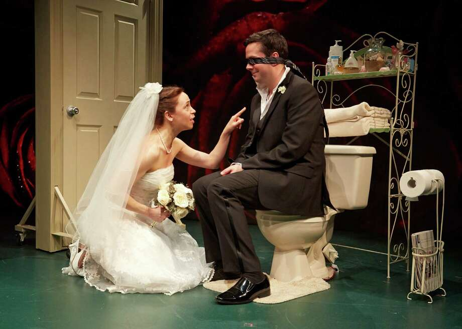 "What comes after falling in love is explored in the John Cariani play ""Love/Sick"" at the TheaterWorks Hartford, featuring Laura Woodward and Chris Thorn. Photo: Contributed Photo, Contributed Photo / Connecticut Post"