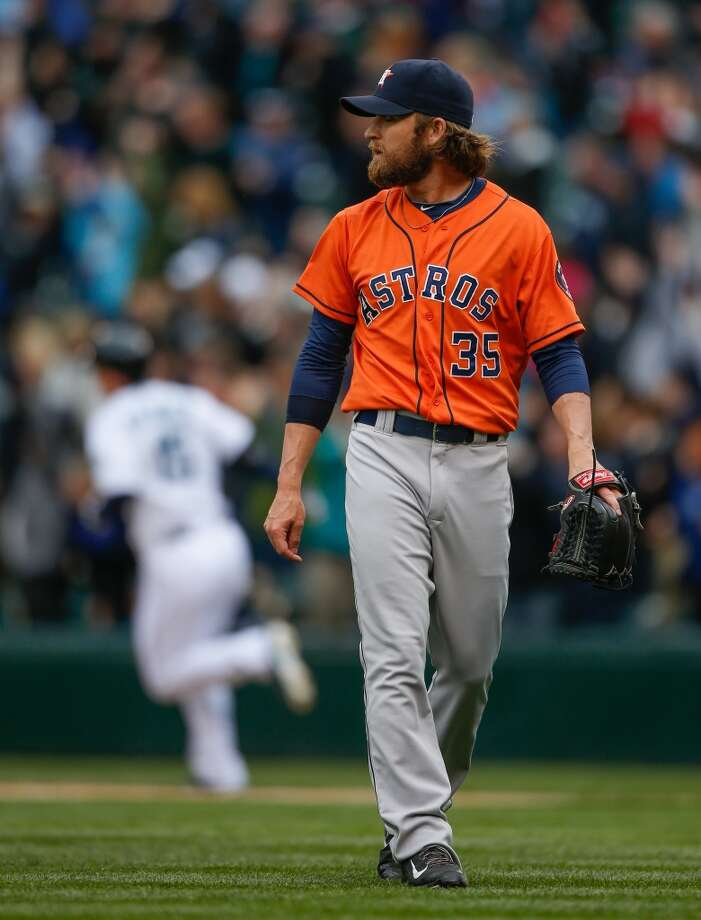 April 23: Mariners 5, Astros 3  Kyle Seager hit his second of two homers in the bottom of the ninth inning to prevent the Astros from their first series sweep of the season.  Record: 7-15. Photo: Otto Greule Jr, Getty Images