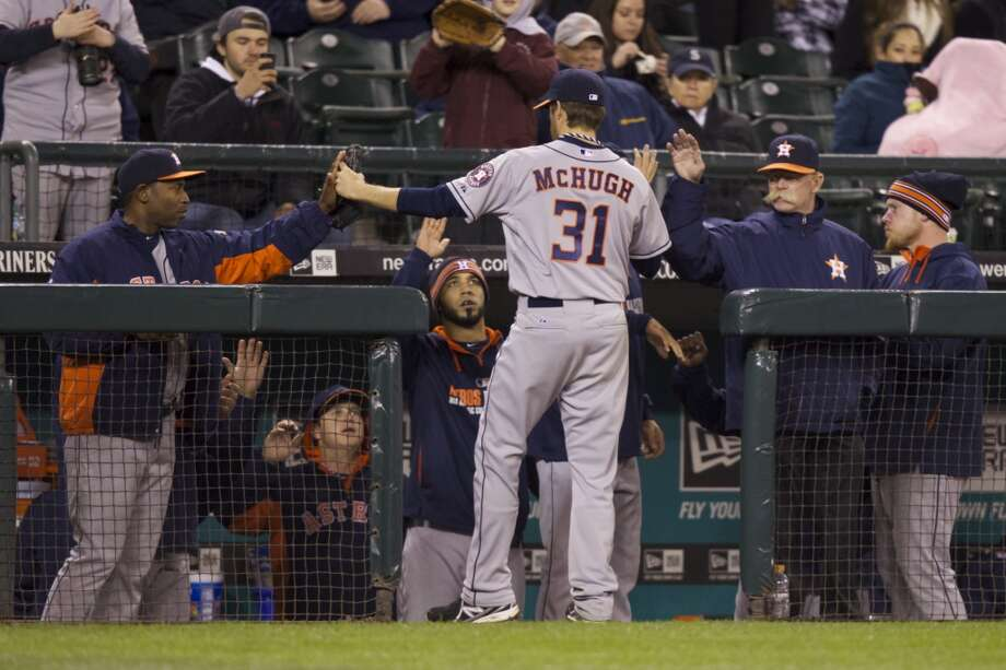 April 22: Astros 5, Mariners 2  Collin McHugh was dominant in his first start for Houston as the Astros secured the series win over the Mariners.  Record: 7-14. Photo: STEPHEN BRASHEAR, Associated Press