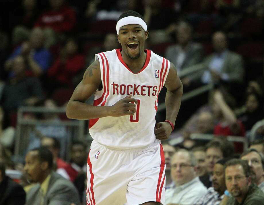 0 - Aaron BrooksThe Rockets drafted Brooks out of Oregon in the first round of the 2007 draft. He averaged 12.7 points in three-plus seasons with the Rockets. Brooks was second to Kevin Martin in scoring with a 19.6 average in the 2009-10 season, when he was named the NBA's most improved player. Photo: James Nielsen, Houston Chronicle / Houston Chronicle