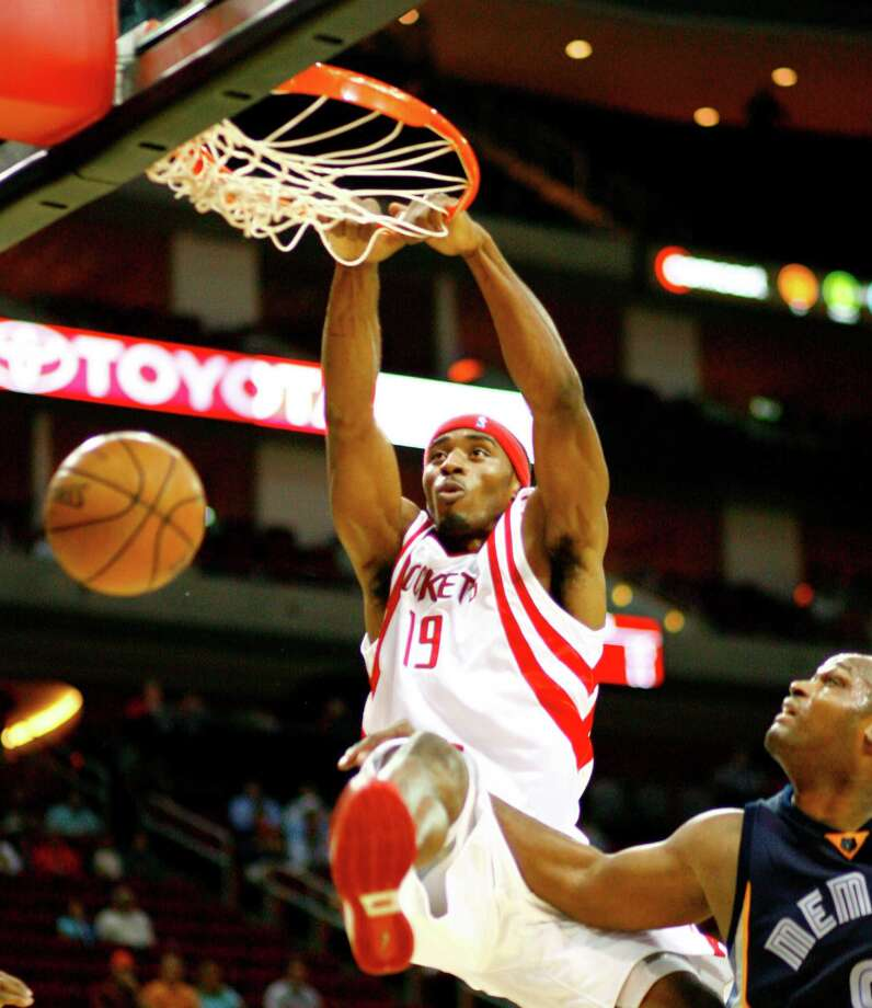 19 - Mike HarrisThe former Rice star is the only player in franchise history to wear this number. Harris has averaged 3.2 points in 29 games with the Rockets. Photo: Nick De La Torre, Houston Chronicle / Houston Chronicle