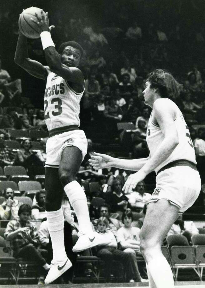 23 - Calvin MurphyMurphy is the shortest player in the Hall of Fame. The 5-9 Murphy is second in franchise history in points (17,949) and steals (1,165) and first in assists (4,402). Murphy is also one of the best free-throw shooters of all time, with an 89.2 percent career mark. Photo: Tim Johnson, Houston Chronicle / handout