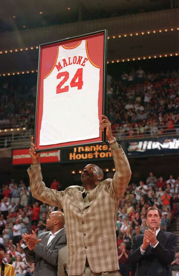 24 - Moses MaloneThe Hall of Famer played six seasons with the Rockets and had an MVP season in 1981-82 when he averaged 31 points and an NBA best 14.7 rebounds and led the Rockets to the NBA Finals. In his six years in Houston, Malone averaged 15 rebounds a game. He left Houston as a free agent for Philadelphia, where he finally won an NBA title. Photo: Kerwin Plevka, Houston Chronicle / Houston Chronicle