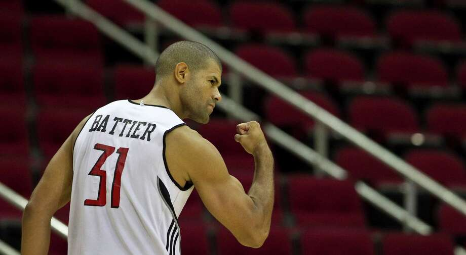 31 - Shane BattierBattier played four-plus seasons in Houston and became a fan favorite as a defensive stalwart. Battier's best offensive season in Houston was in 2006-07 when he averaged 10.1 points. Photo: James Nielsen, Houston Chronicle / Houston Chronicle