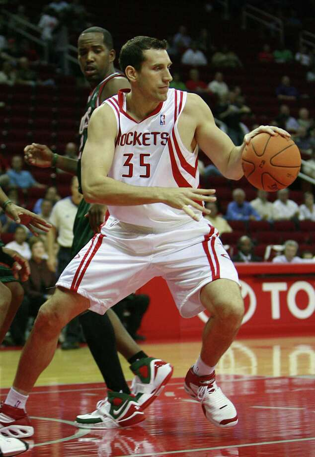 35 - Scott Padgett  Padgett played two-plus seasons with the Rockets. He was a power forward with 3-point shooting range (finishing with 43 percent in 2003-04). Photo: James Nielsen, Houston Chronicle / Houston Chronicle
