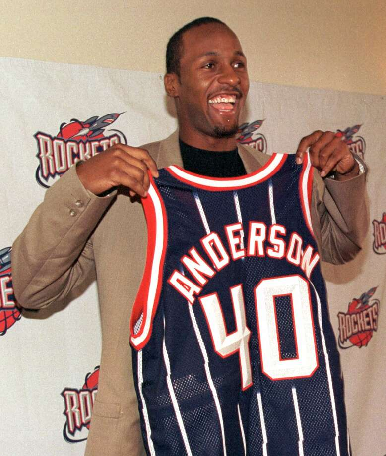40 - Shandon Anderson Anderson was signed from the Jazz after they reached the NBA Finals in back-to-back years. He averaged 10.5 points with the Rockets in 2000-2001. Photo: Brett Coomer, Houston Chronicle / AP