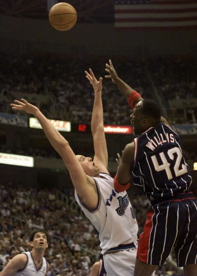 42 - Kevin WillisWillis played three seasons of his his 21-year career with the Rockets. Willis averaged 11.8 points and 7.8 rebounds with the Rockets and became a fan favorite. Photo: Howard Castleberry, Houston Chronicle / Houston Chronicle