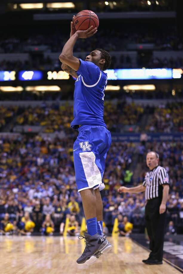 13. Minnesota – James Young, 6-7, G, KentuckyAs one of the youngest players in the draft, Young will need some time, but has intriguing potential with the physical tools of a lottery pick. Photo: Jonathan Daniel, Getty Images