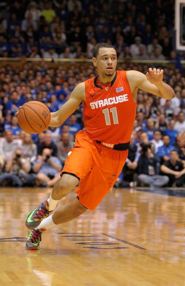 19. Chicago – Tyler Ennis, 6-2, G, Syracuse  The Bulls might have be tempted to grab Ennis with their earlier pick, but won't pass on him again if he's still on the board. Photo: Grant Halverson, Getty Images