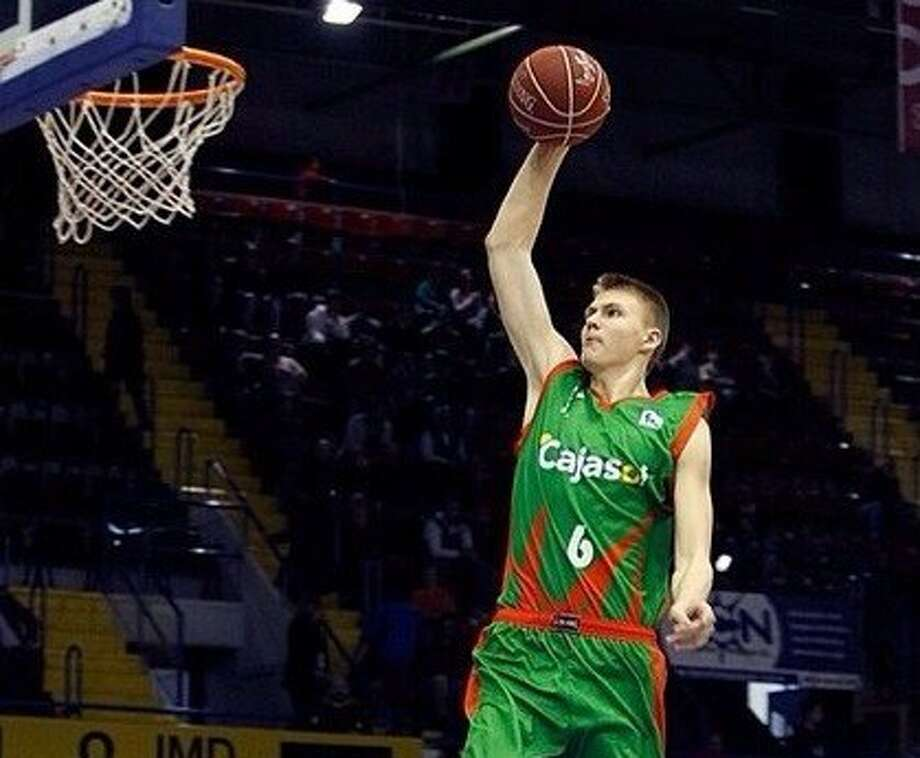 25. Rockets – Kristaps Porzingis, 7-0, F, Seville  One of the youngest players in the draft, Porzingis might remind some of the draft night acquisition of Donatas Motiejunas. He also needs time to develop greater strength, but the Rockets were so young last season, they don't need another rookie right away and might be well served to stash a pick with so much long-term potential overseas while keeping cap room open. Photo: Sportacentrs.com