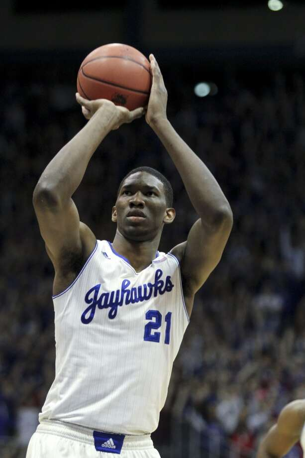 Joel Embiid, Kansas, 7-0, CBased on size alone, Embiid is a top choice for a lot of teams. While he has drawn comparisons to some of the sport's best, like Hakeem Olajuwon, he has also had some back injury concerns that caused him to miss the last six games of the Jayhawks' season. Photo: Ed Zurga, Getty Images