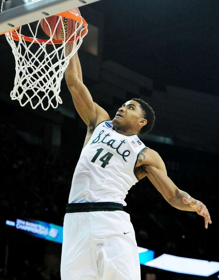 Gary Harris, Michigan State, 6-4, G  Harris averaged 16.7 points per game for the Spartans last year and scored over 1,000 in just two seasons at Michigan State. While he is a proven scorer, Harris is also praised for defensive tenacity, which is what has been catching the eyes of scouts. Photo: Steve Dykes, Getty Images