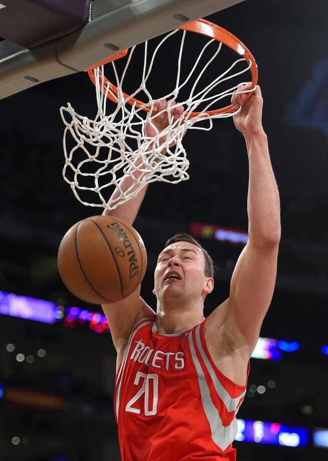 Donatas Motiejunas, Forward/Center  2014-15 contract: $1,483,920   Comment: Motiejunas had his moments and brings great energy, but was often overmatched defensively. That kept him from the post-season rotation, and pushes him to a third season needing to turn his offensive skills into reliable production.  Grade: B - Photo: Mark J. Terrill, Associated Press