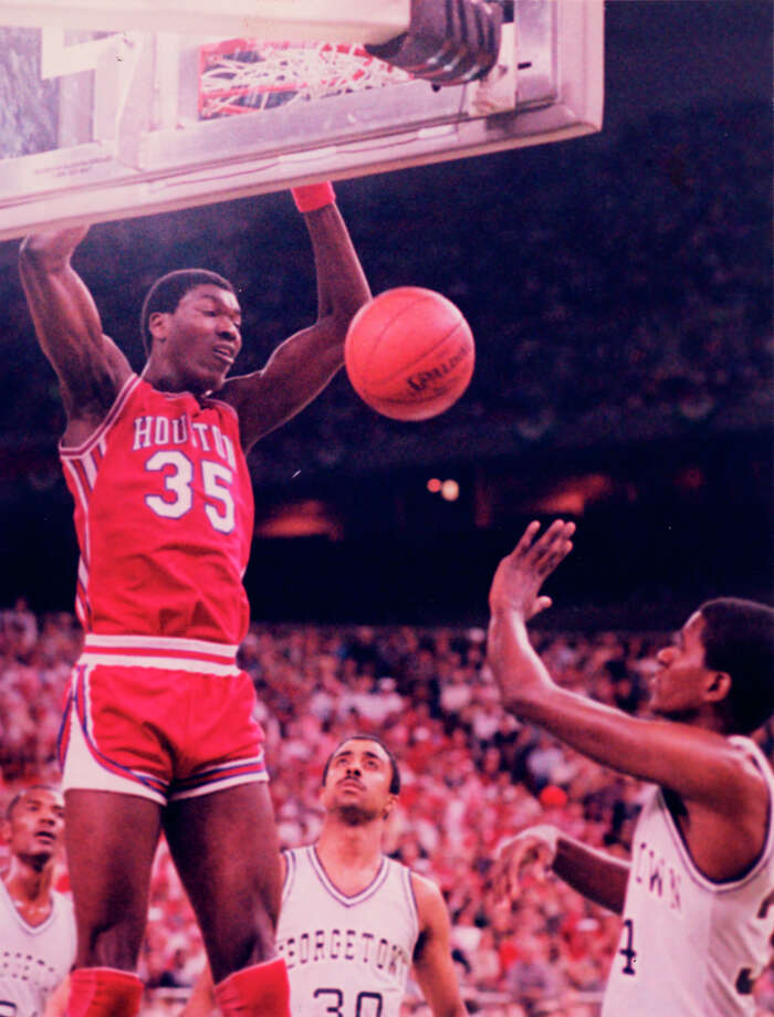 Hakeem was the backbone of the Phi Slama Jama teams of 1982-84. Photo: Houston Chronicle
