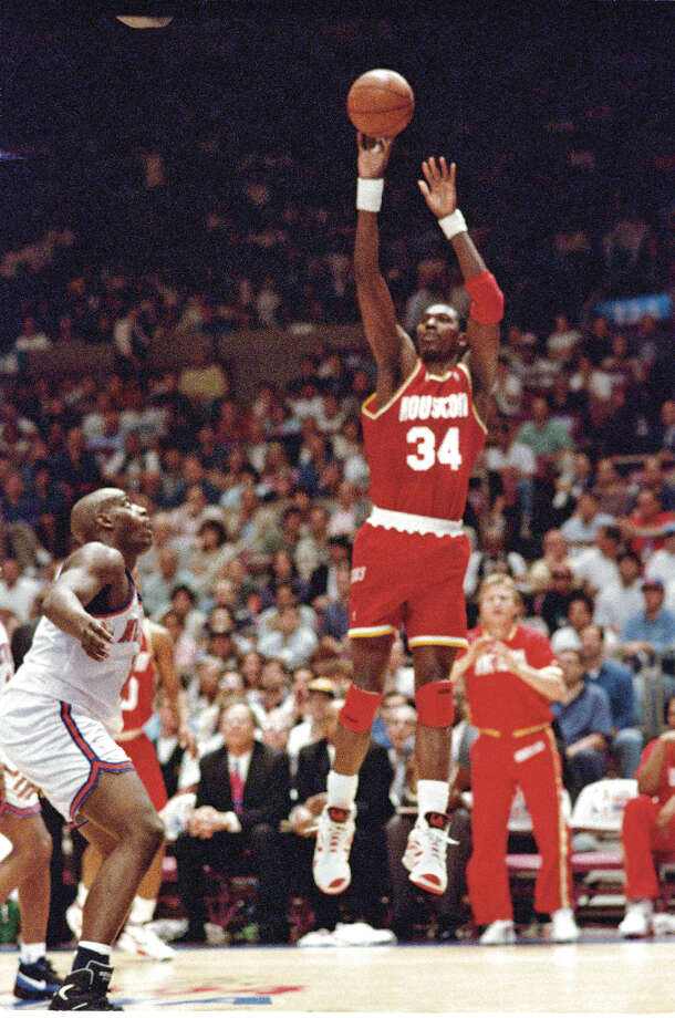 In 1994, Hakeem and the Rockets captured Houston's imagination and its first major sports championship as they defeated the New York Knicks in seven games. For his efforts, the Dream was named the Finals MVP. He also won the regular season MVP award that season. Photo: Kerwin Plevka, Chronicle File