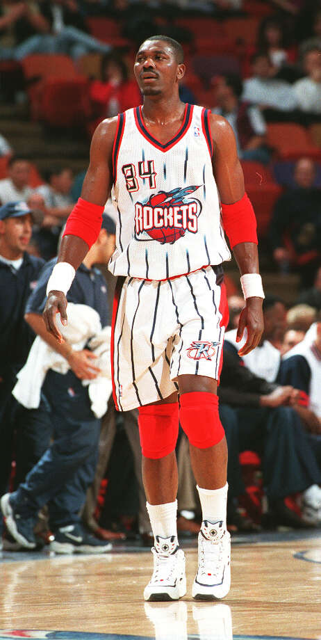 Hakeem stood tall for the Rockets, leading the team to the playoffs 14 times. Photo: Chronicle File