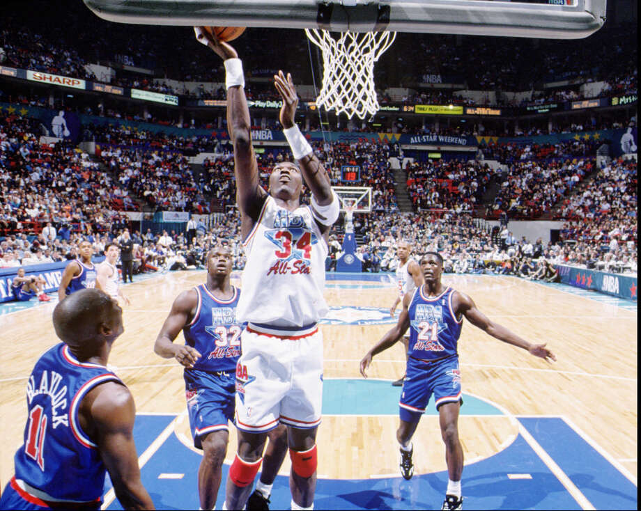 Hakeem was a 12-time All-Star. Photo: Lou Cappozola, NBC Sports