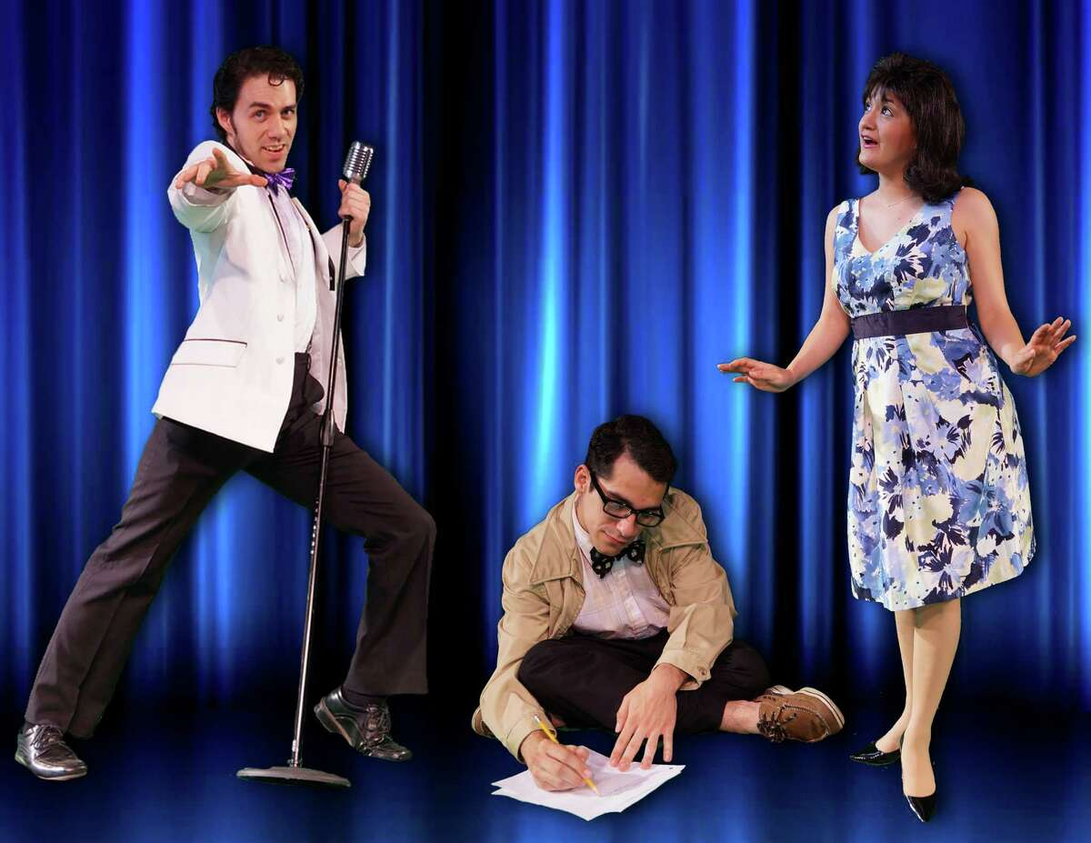 """Sean Salazar (from left), Austin Allie and Jovi Gonzales appear in the Cameo Theatre's staging of """"Breaking Up is Hard to Do."""""""