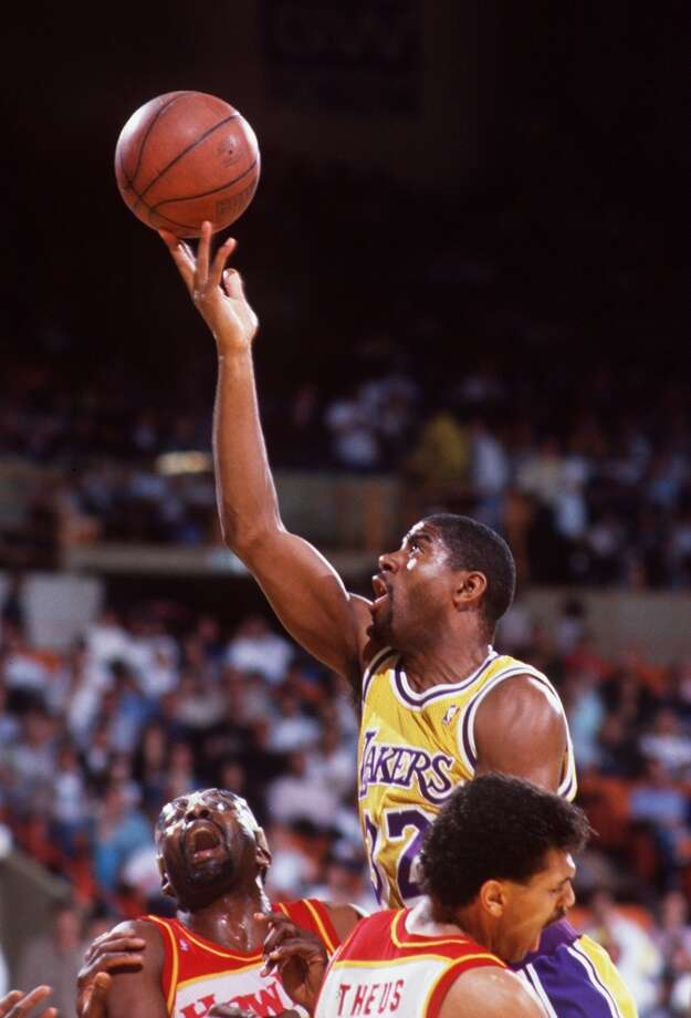 1989-90 — Magic Johnson, L.A. Lakers Photo: Mike Powell, Getty Images