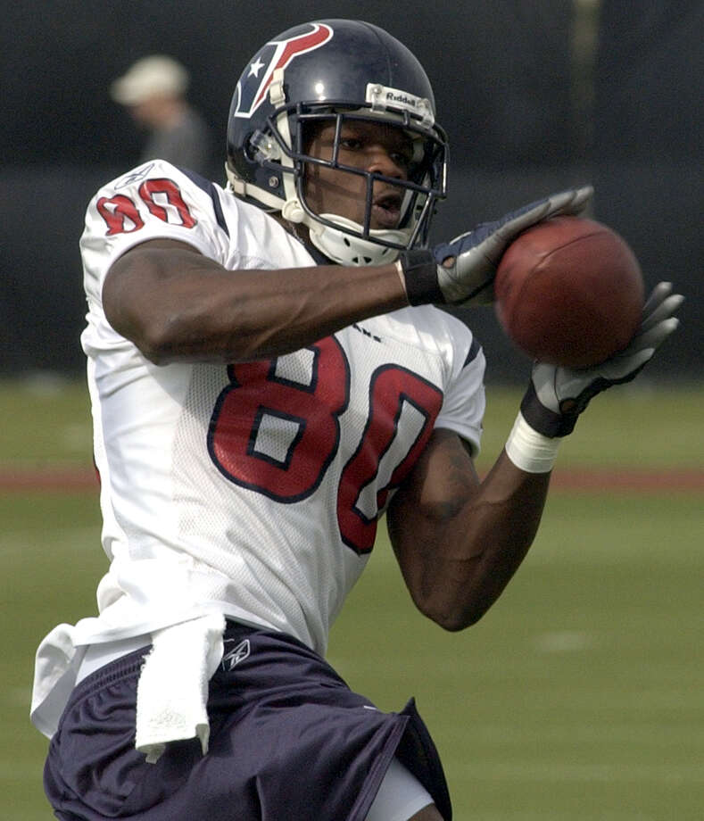 Texans wide receiver Andre Johnson made an immediate impact during his rookie season in 2003. Photo: Karl Stolleis, Houston Chronicle