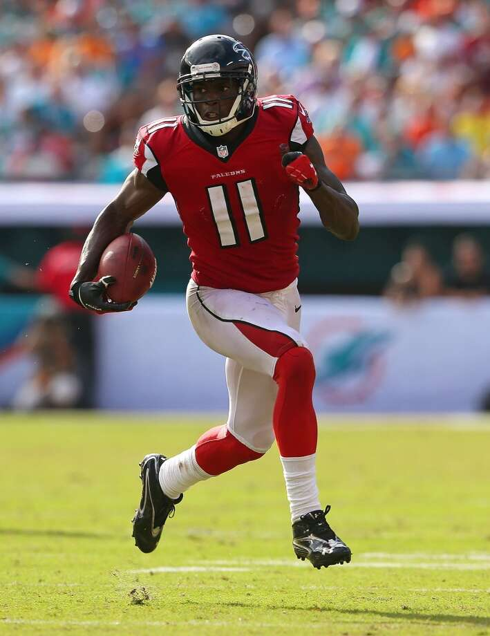 NFC SOUTH  Falcons draft class -- Julio Jones (WR, 1-6); Akeem Dent (LB, 3-91); Jacquizz Rodgers (RB, 5-145); Matthew Bosher (K, 6-192); Cliff Matthews ( DL, 7-230); Andrew Jackson (OL, 7-210)  Grade: C-plus  They paid dearly to trade up to get Jones, who has been outstanding when healthy. Rodgers was a nice addition for a fifth-rounder. Photo: Mike Ehrmann, Getty Images