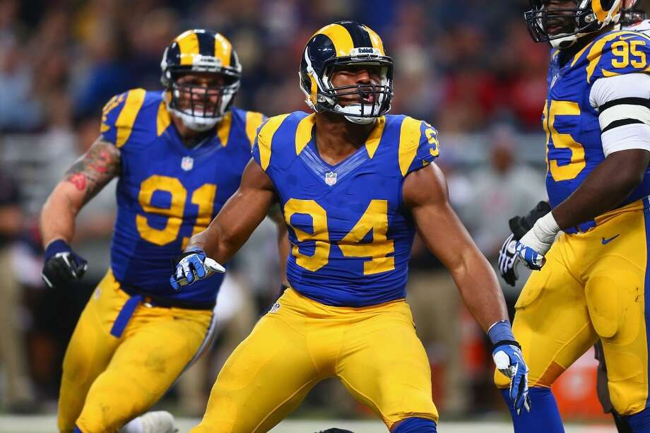 NFC WESTRams draft class-- Robert Quinn (DE, 1-14); Lance Kendricks (TE, 2-47); Austin Pettis (WR, 3-78); Greg Salas (WR, 4-112); Jermale Hines (DB, 5-158); Jonathan Nelson (DB, 7-229); Jabara Williams (LB, 7-228); Mikail Baker (DB, 7-216)Grade: C-plusQuinn is one of the NFL's best outside rushers. Pettis and Kendricks have contributed. Photo: Dilip Vishwanat, Getty Images