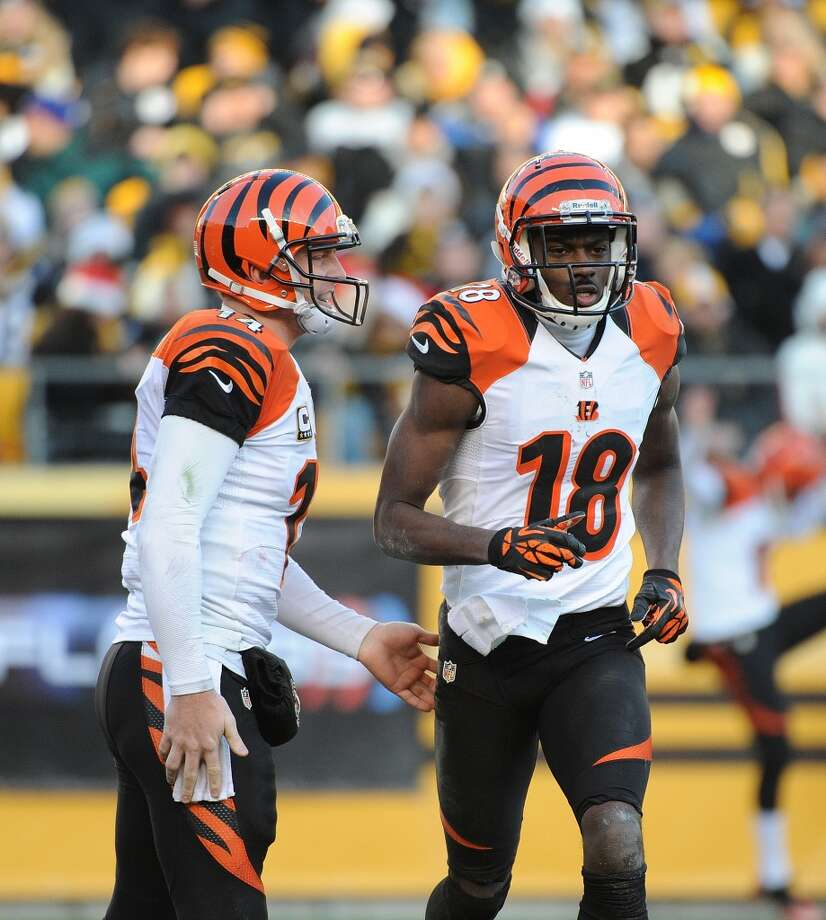 AFC NORTHBengals draft class-- A.J. Green (WR, 1-4); Andy Dalton (QB, 2-35); Dontay Moch (DL, 3-66); Clint Boling (OL, 4-101); Robert Sands (FS, 5-134); Ryan Whalen (WR, 6-167); Jay Finley (RB, 7-246); Korey Lindsey (DB, 7-207)Grade: AGreen and Dalton have helped the Bengals reach the playoffs for three consecutive seasons. Green is an elite receiver. Photo: George Gojkovich, Getty Images