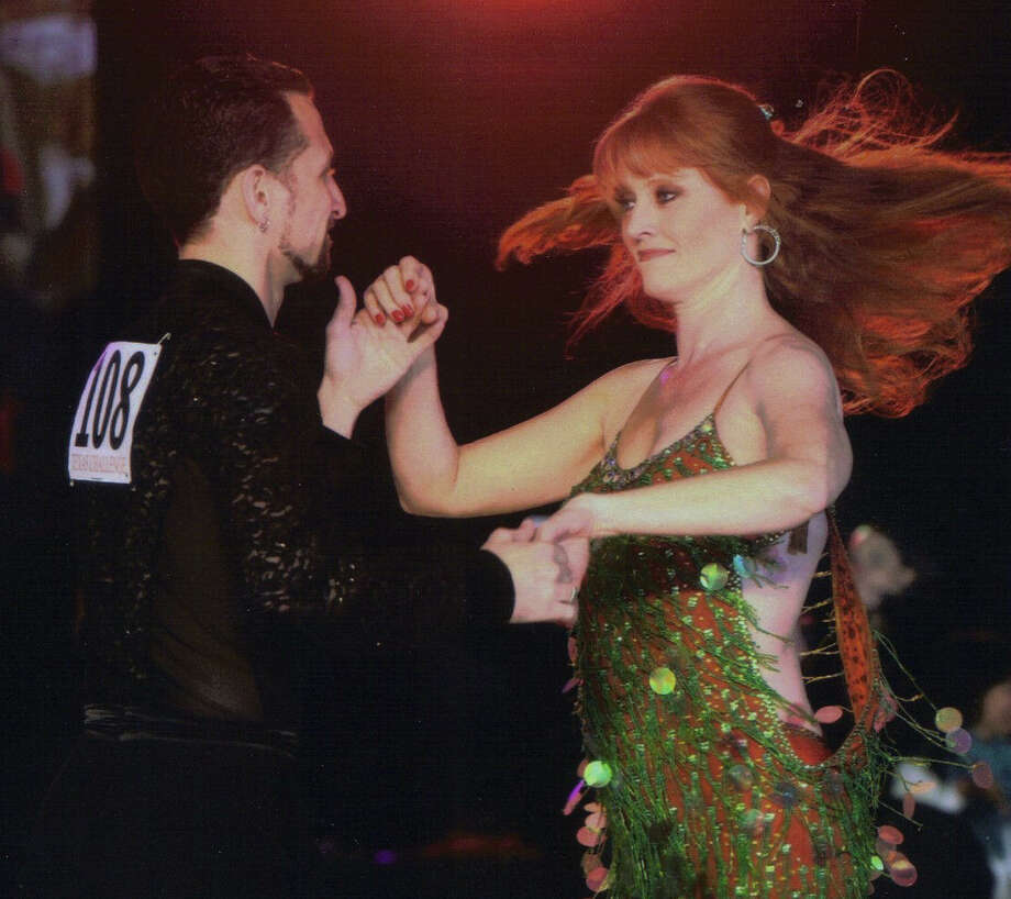 WOAI weathercaster Siobhain Anders is a regular winner of ballroom dancing competitions. Photo: Courtesy Siobhain Anders / San Antonio  Express-News