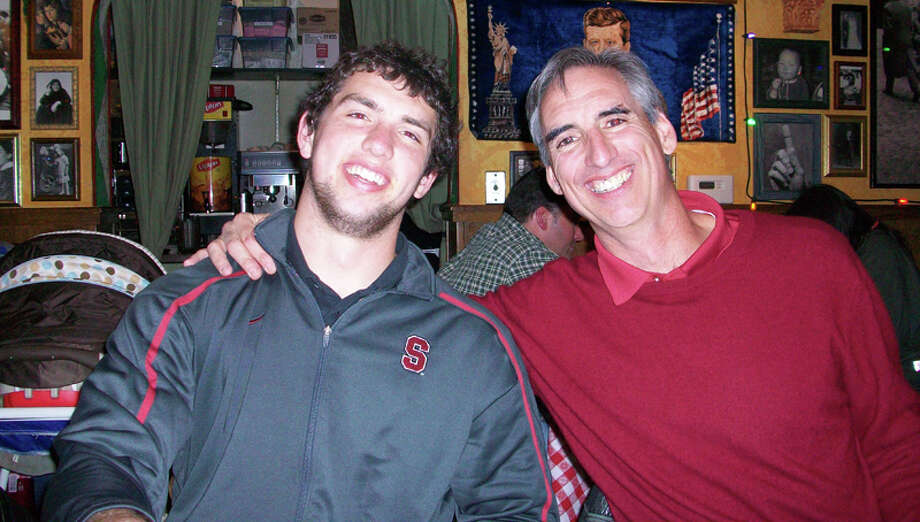 Andrew and his father, Oliver. Photo: Courtesy Of Luck Family